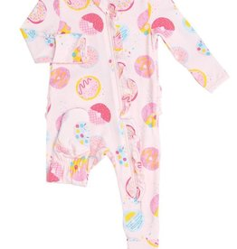 Angel Dear Donuts Ruffle Footie Pink