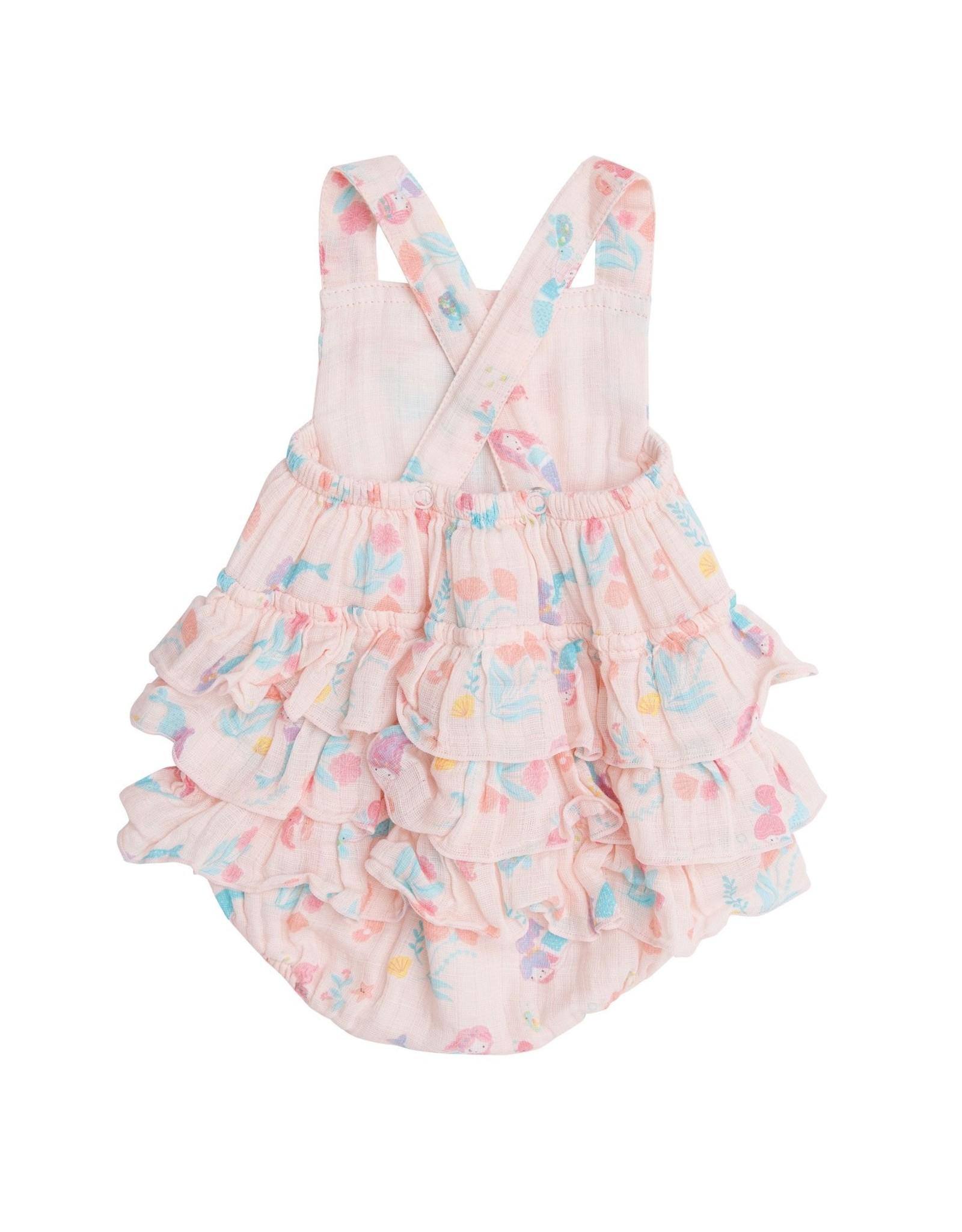 Angel Dear Mermaids Ruffle Sunsuit Pink