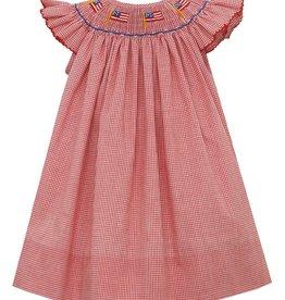 Petit Bebe Flags Angel Sleeve Bishop Dress