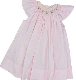 Remember Nguyen Pink Strawberries Bishop Dress