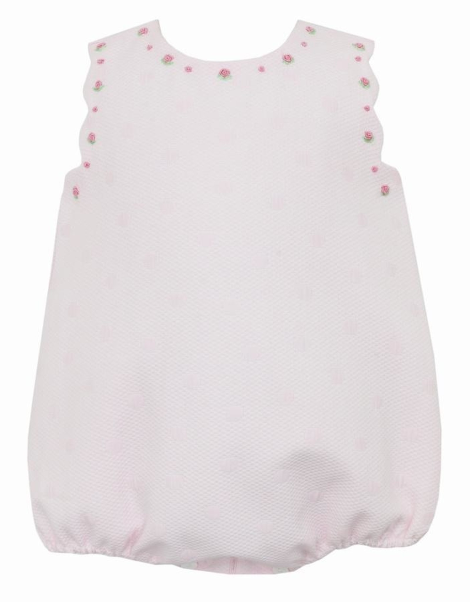 Anavini Pink Dot Amber Embroidered Sleeveless Bubble