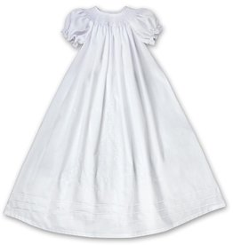 Rosalina White Smocked Christening Gown