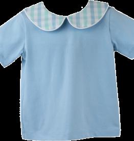 LullabySet Blue Plaid Tip Toe Short Set