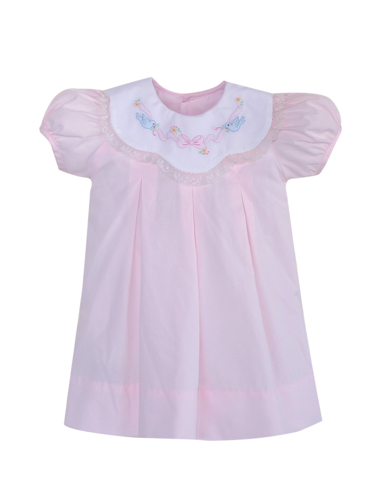Remember Nguyen Pink Birds With Ribbon Dress