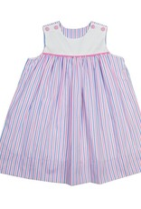 Remember Nguyen Pink/Blue Stripe Mason Dress