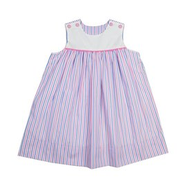 Remember Nguyen Pink/Blue Stripe Mason Dress