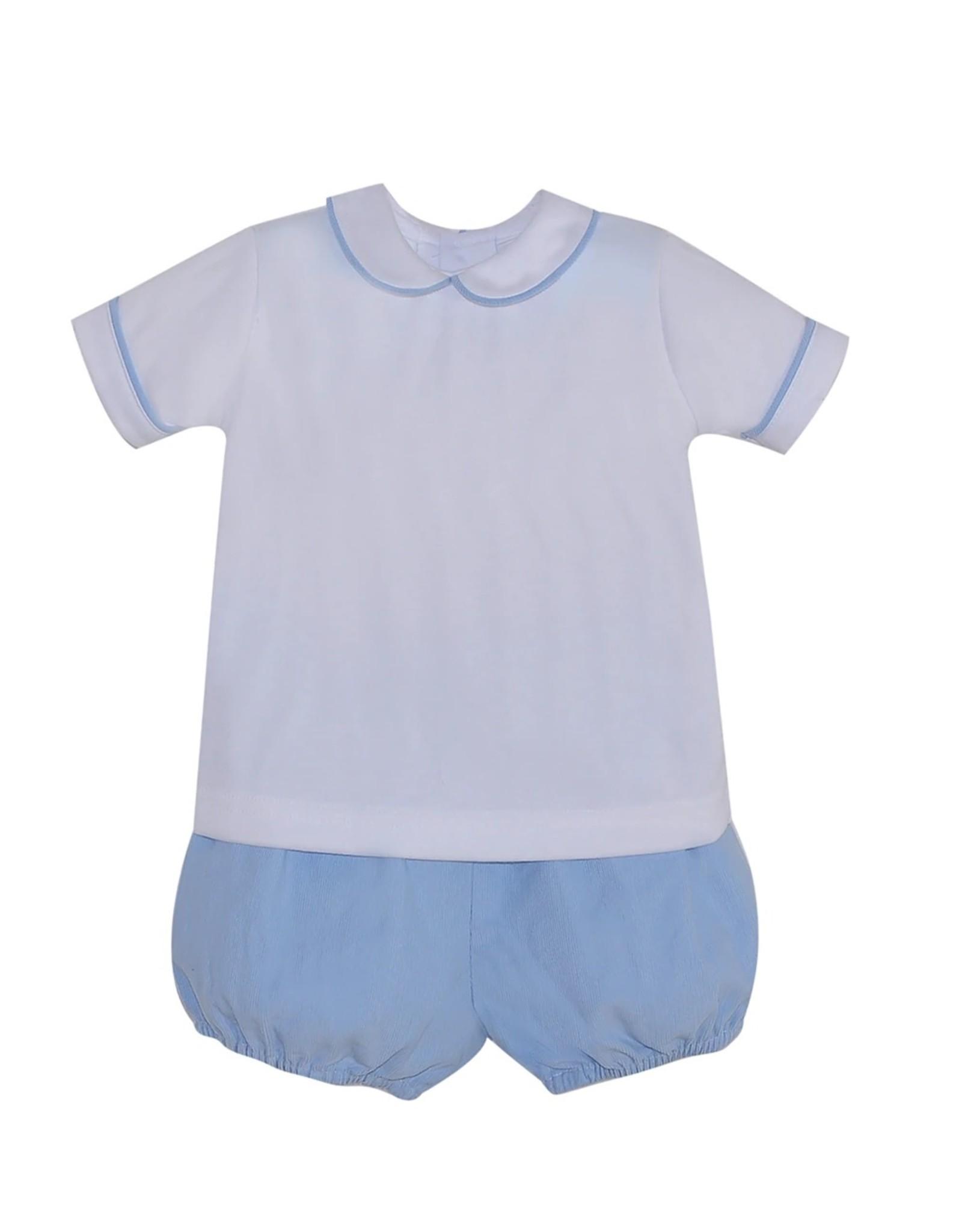 Remember Nguyen Blue Aspen Boy Short Set