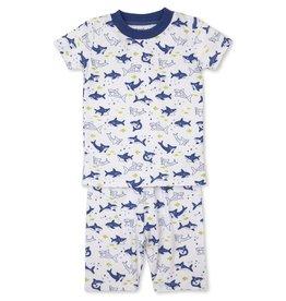 Kissy Kissy Shark Blue Snug Short PJ Set