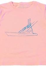 Mustard & ketchup Light Pink Sport Fishing Boat Tee