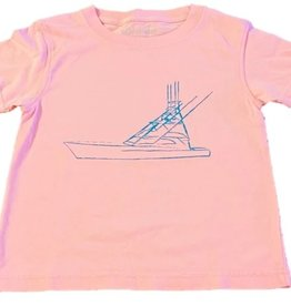 Mustard & ketchup Light Pink Sport Fishing Boat Tee