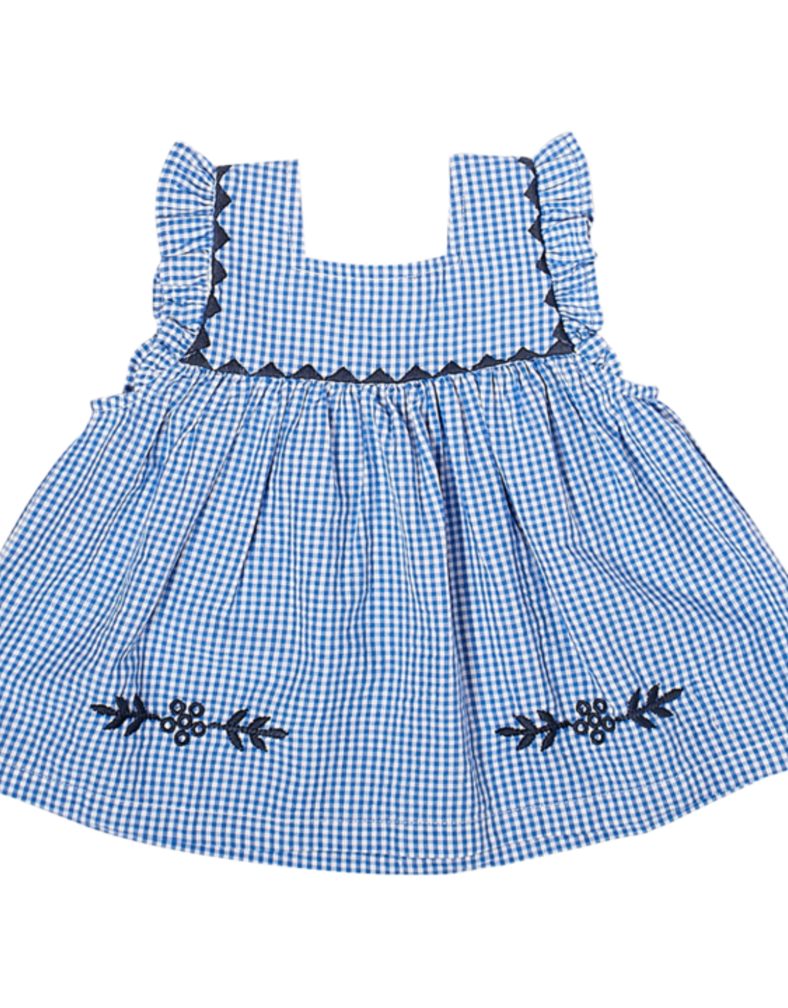 Pink Chicken Marabelle Top Blue Gingham