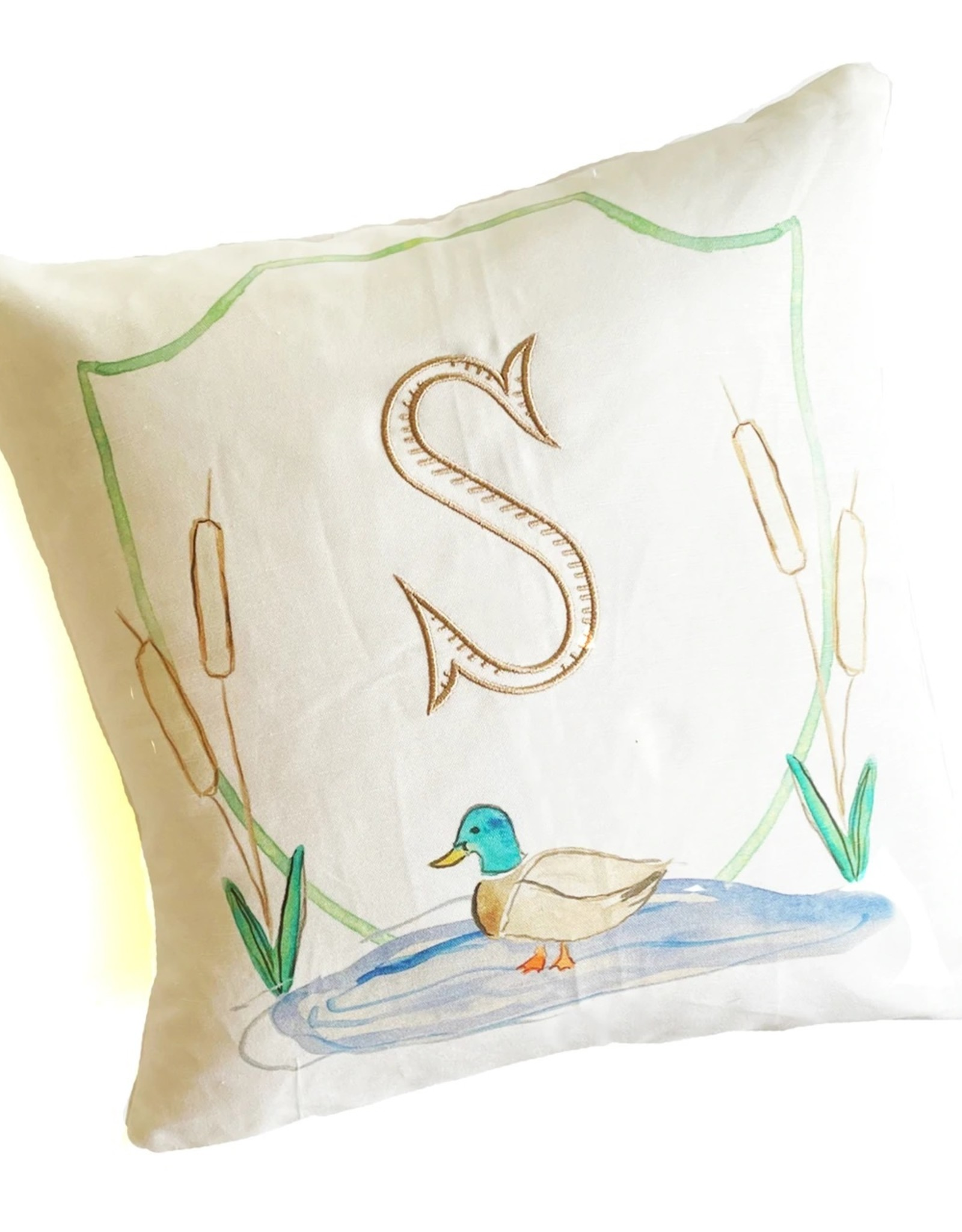 Over The Moon Mallard Crest Pillow