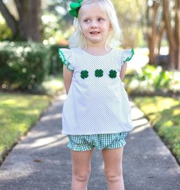 Little Louanne COUNTING CLOVERS KNIT BLOOMER SET