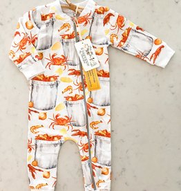 Velvet Fawn Eat More Seafood Zipper Jammie