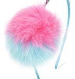 Bari Lynn Multi Tone Fur Pom Headband