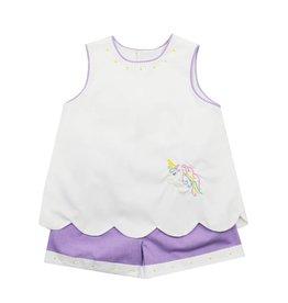 Remember Nguyen Unicorn Short Set Purple/White
