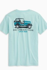 Southern Tide Explore More SS Tee Wake Blue