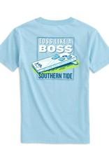 Southern Tide Like A Boss SS Tee Dream Blue