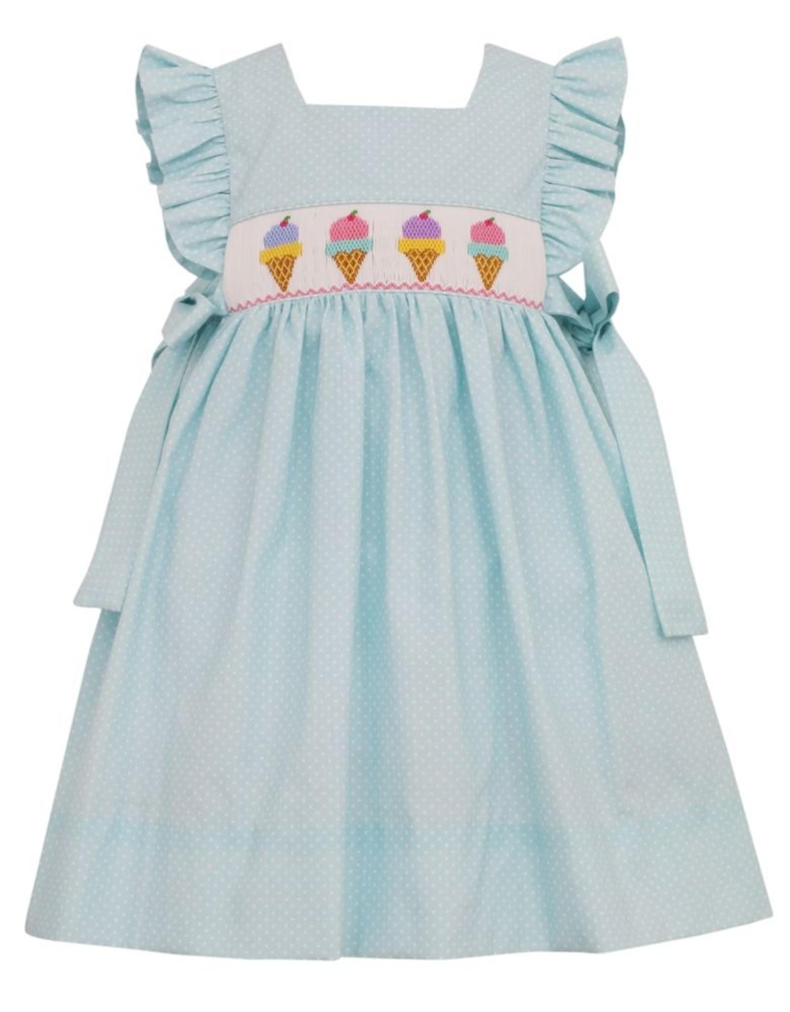 Anavini Ice Cream Smock Dress Mint Dot