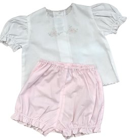 Auraluz Pink and White Bow Diaper Set