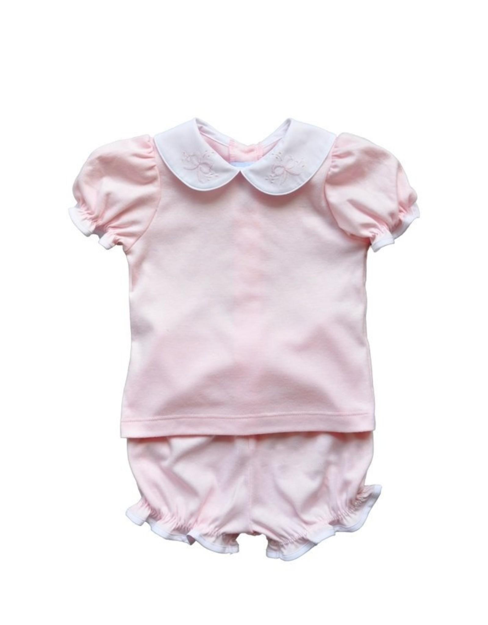 Auraluz Pink Bow Diaper Set