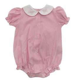 Auraluz Pink Check Bow Ribbon Bubble