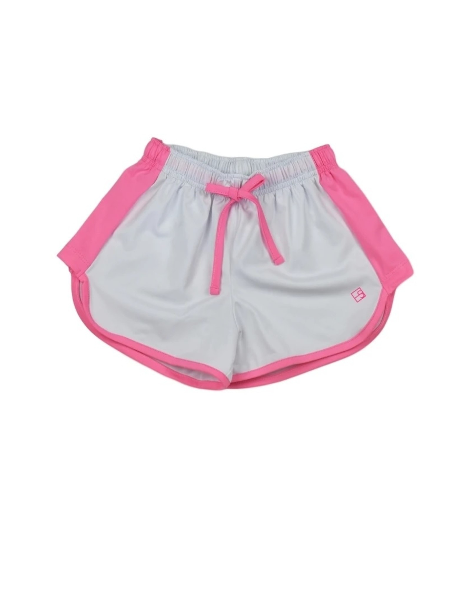 SET Annie Short White w/ Pink Trim