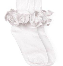 Jefferies Socks 2143 White 5-6.5 Ruffle Sock Toddler