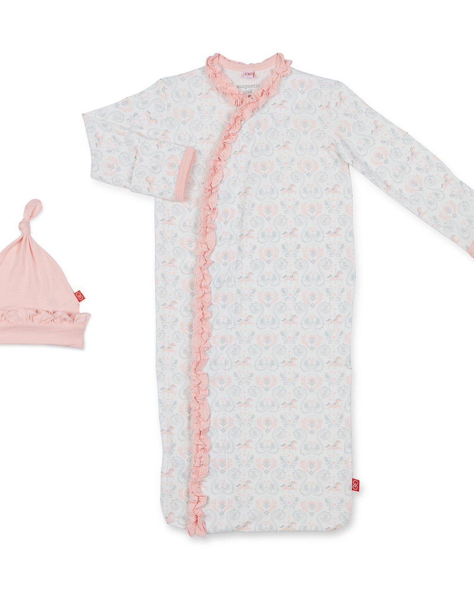 Magnetic Me Carousel Modal Sack gown and hat set