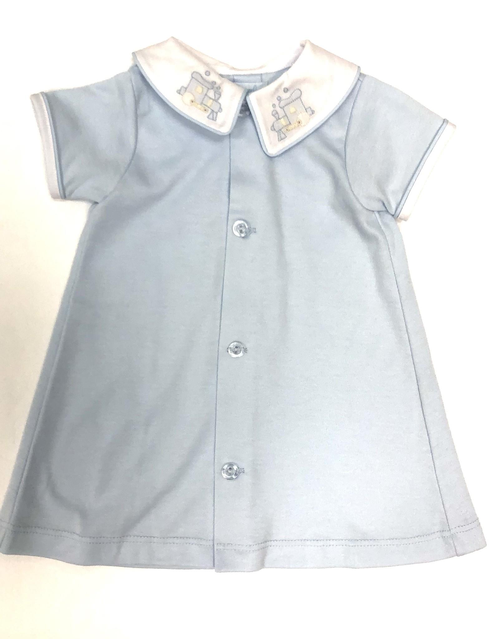 Auraluz Blue Train Knit Day Gown