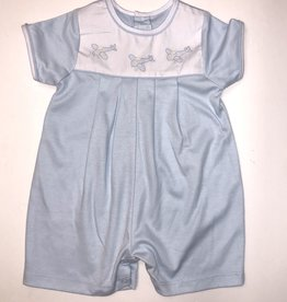 Auraluz Blue Plane Knit Shortall