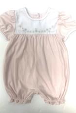 Auraluz Pink Flower Knit Shortall