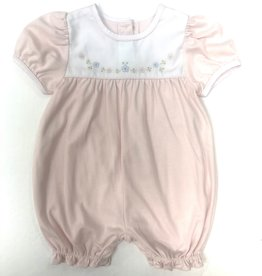 Auraluz Pink Flower Knit Shortall