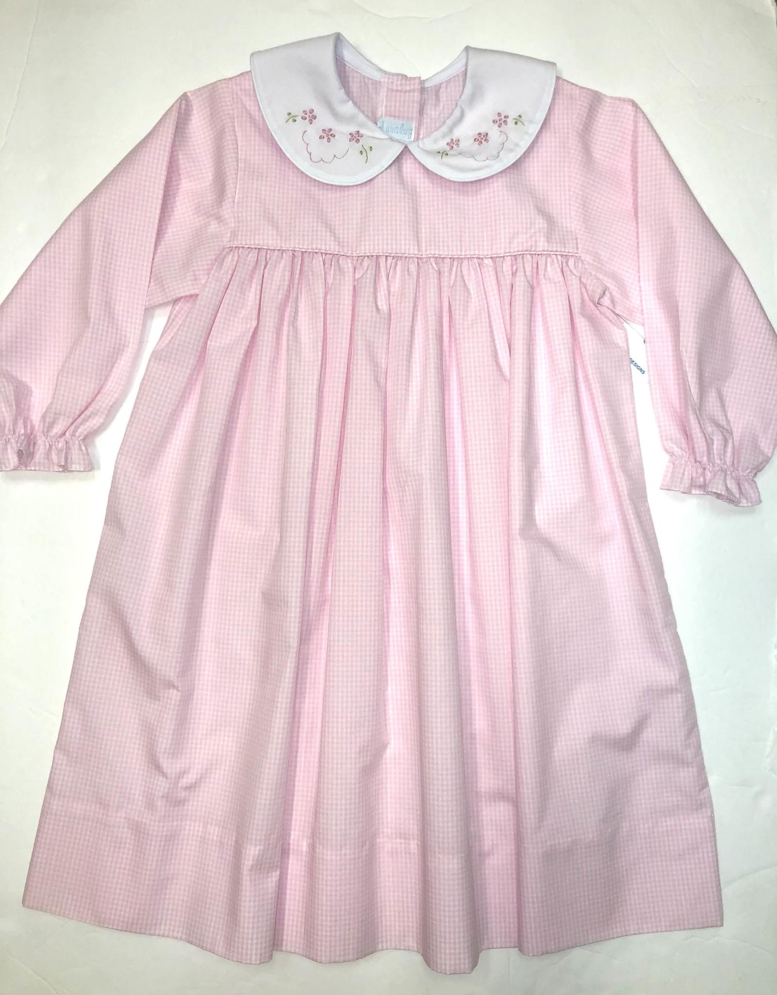 Auraluz Long Sleeve Pink Flower Dress