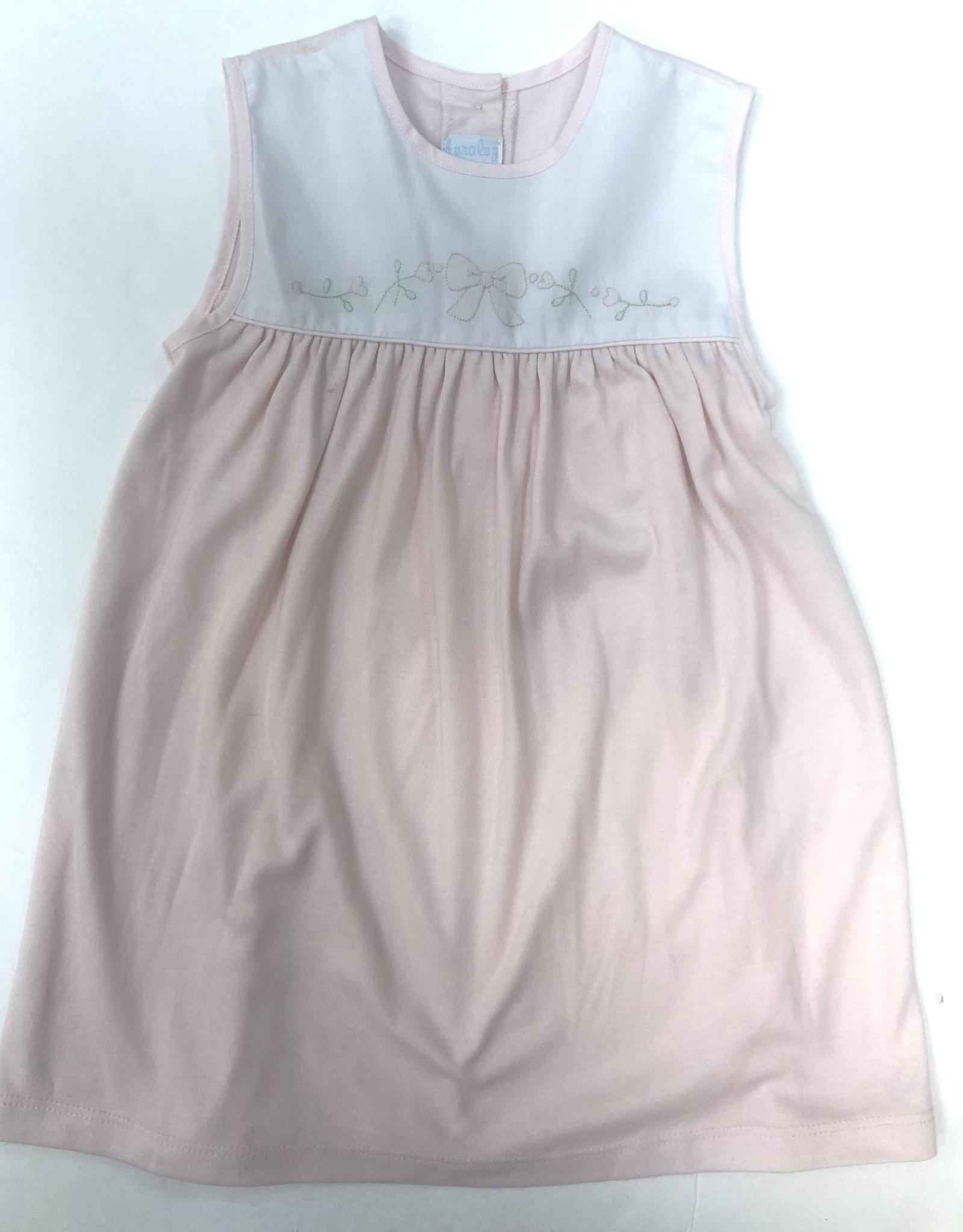 Auraluz Pink Bow Knit Dress