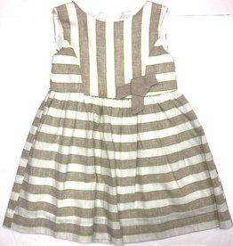 Mayoral Tan/Green Linen Dress