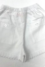 Peggy Green Girls White Two Pocket Shorts