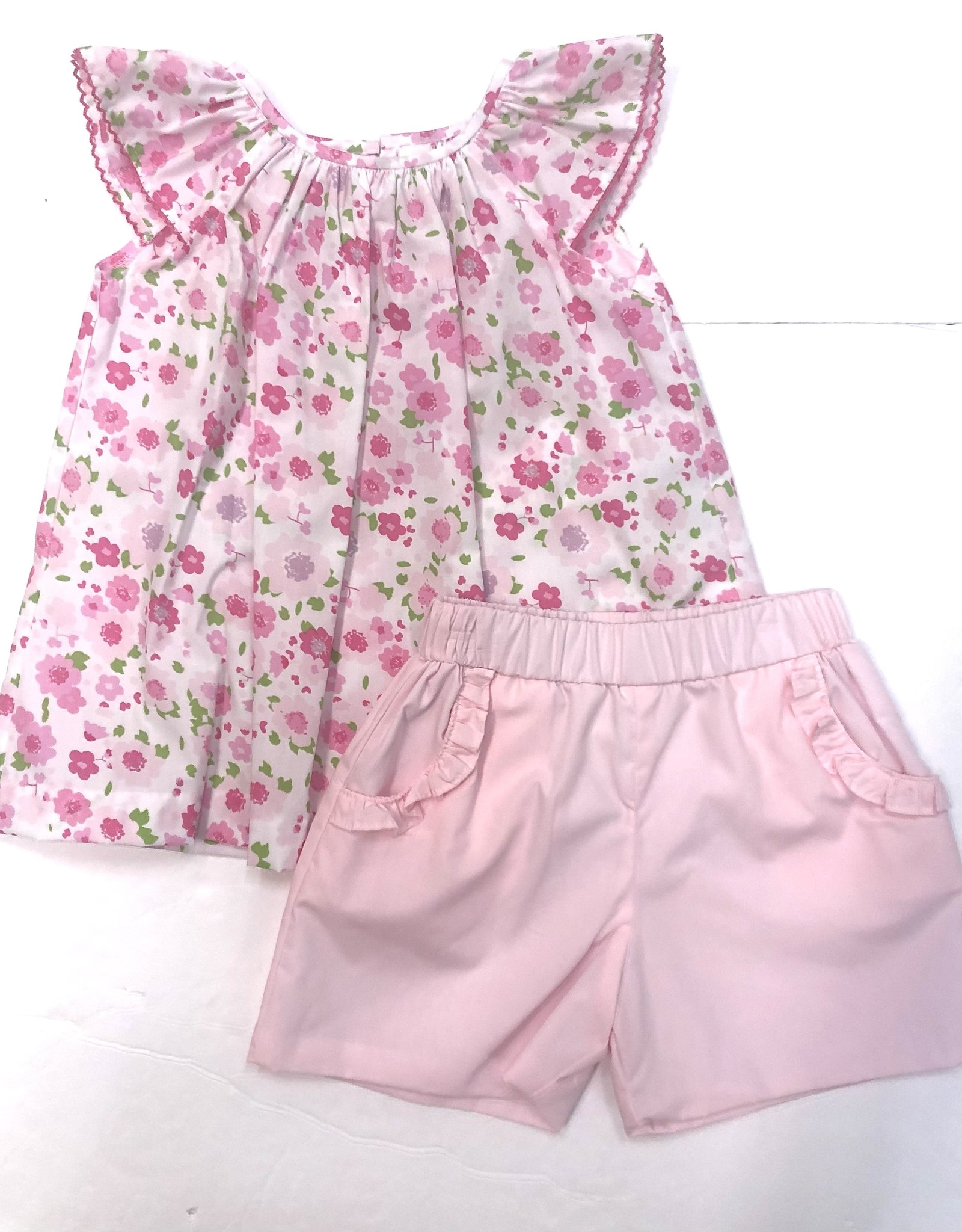 Zuccini Pink Floral Short Set