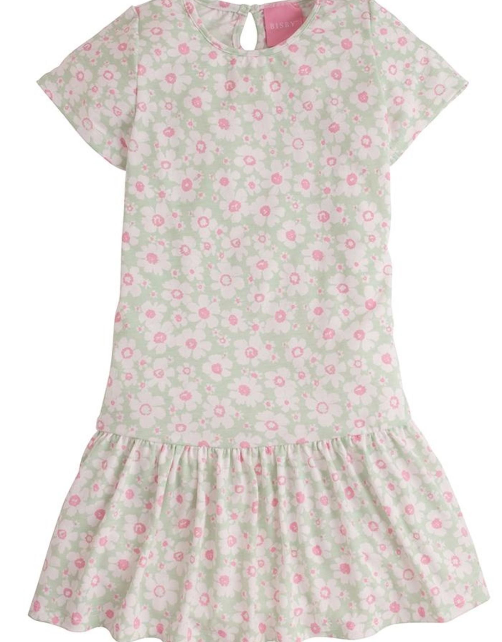 Bisby Isabel Dress - Mint Daisy Jersey
