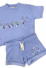 Vintage Havana Lilac Embroidered Happy Short Set