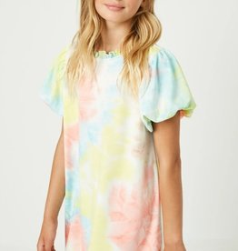 Hayden Los Angeles Tie Dye Puff Sleeve Dress