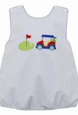 Claire and Charlie Golf Boys Sunbubble Lt Blue Seersucker