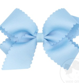 WeeOnes Medium Scalloped Edge Bow