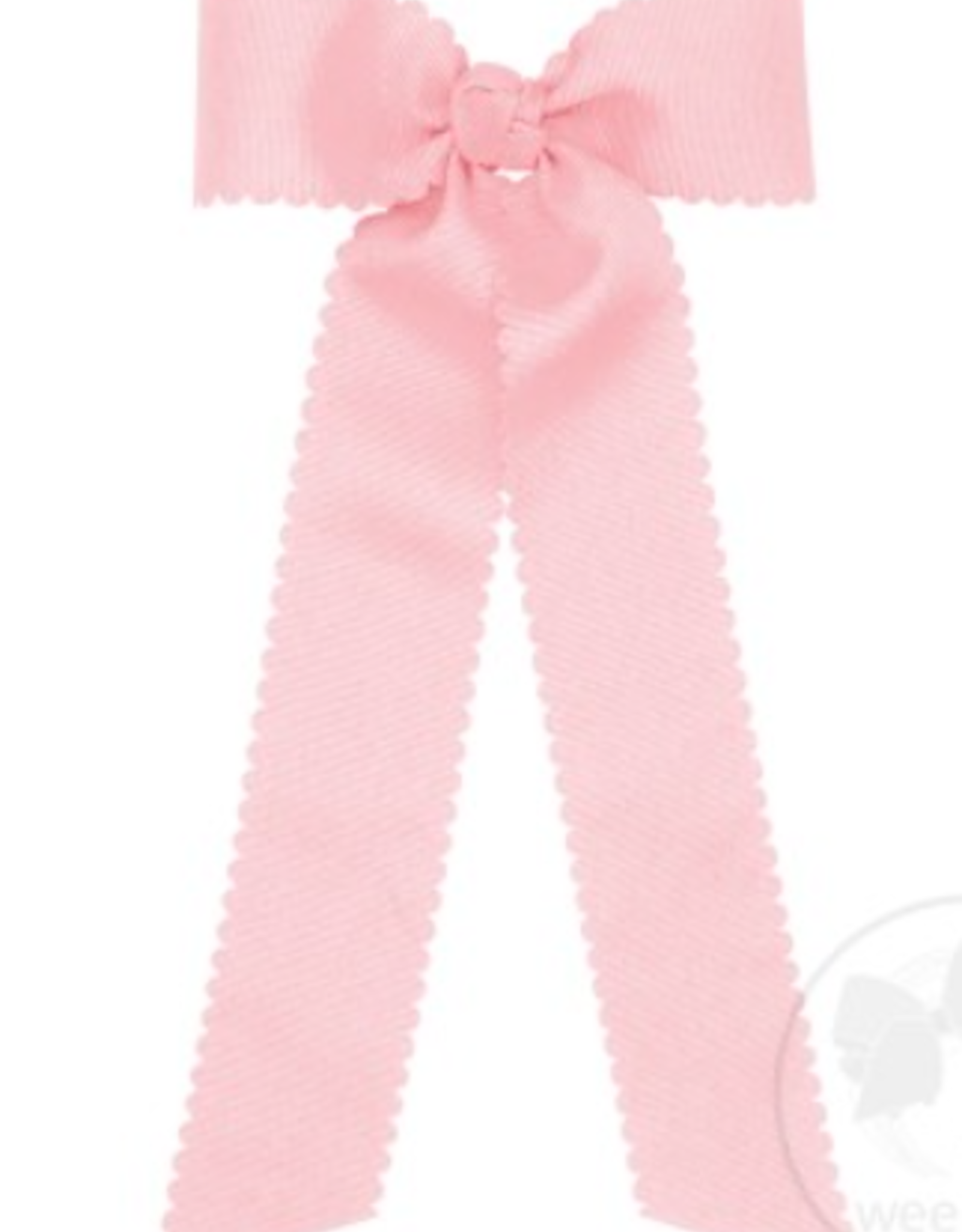 WeeOnes Medium Scalloped Edge Bow w/ Tails