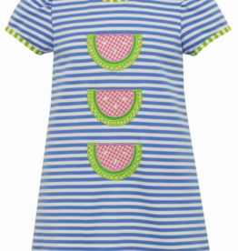 Claire and Charlie Triple Watermelon Blue Knit Stripe Dress