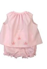 Auraluz 2 Pc Pink Diaper Set w/ Embroidery