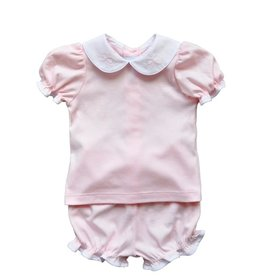 Auraluz 2 PC Knit Bloomer Set Pink Bows