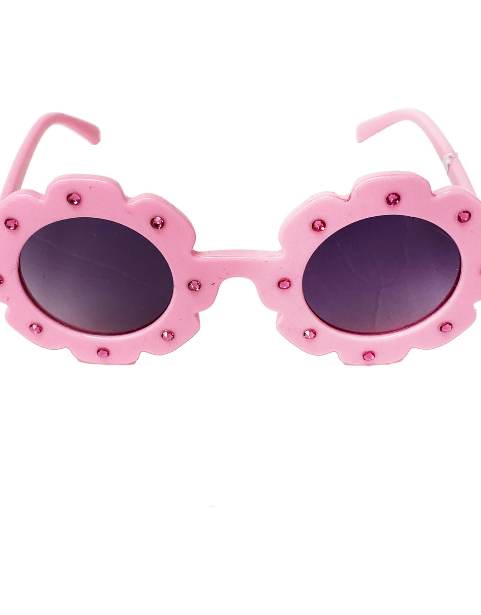 Bari Lynn Flower Sunglasses w/ Stones
