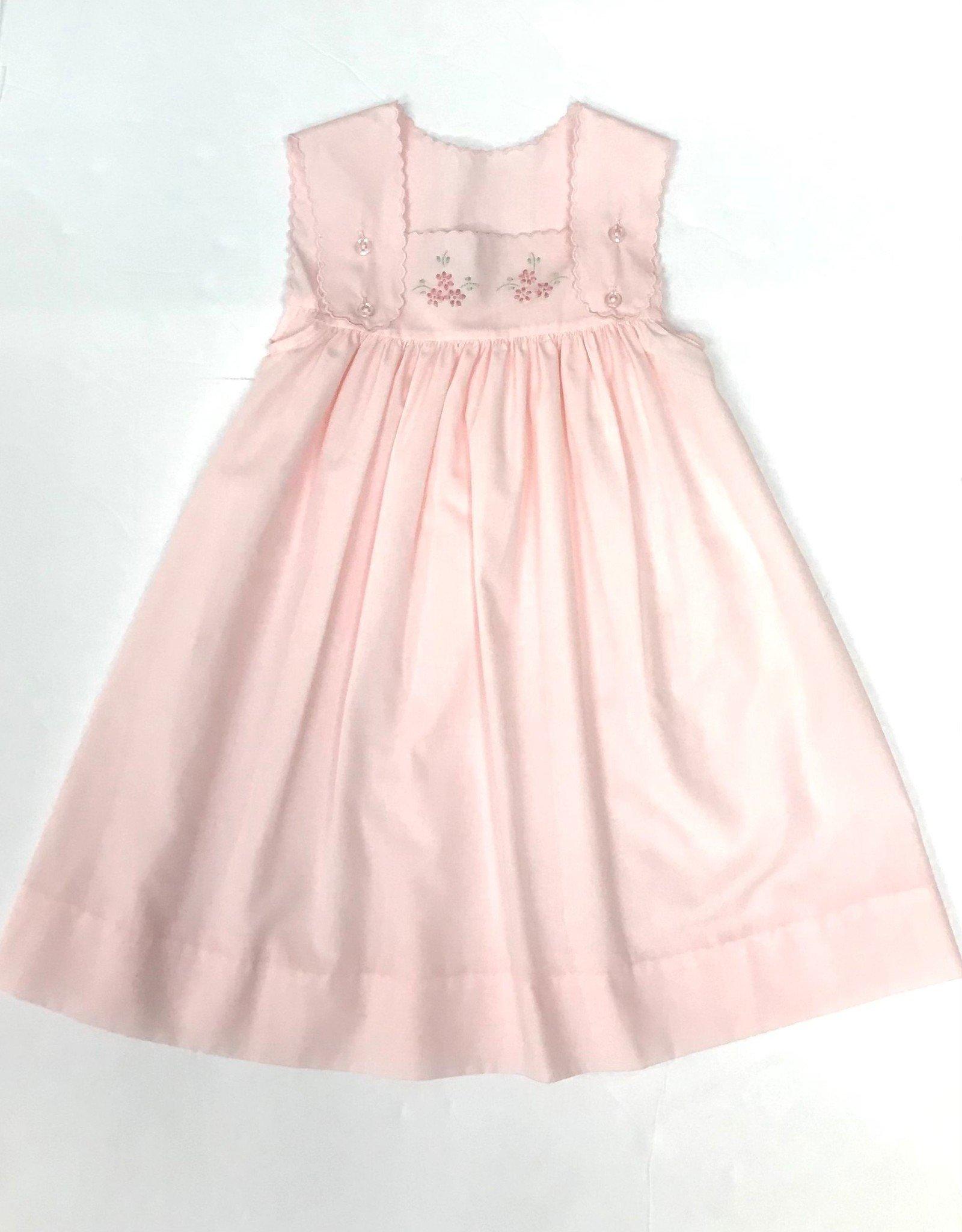 Auraluz Pink Dress w/ Flower Embroidery