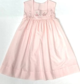 Auraluz Pink Dress w/ Flower Embroidery